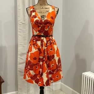 Banana Republic bold print dress size 2